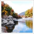 高原川の景観(10月)