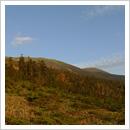 登山道から見た秋(10月)